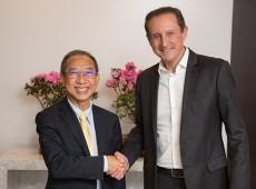 Presidente Paulo Skaf recebe embaixador da Tailândia, no Brasil