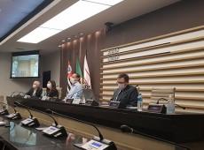 Em videoconferência com o secretário Bruno Dalcolmo, Skaf pede crédito para capital de giro