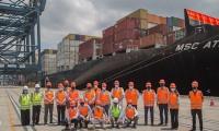 Imagem sobre a matéria: Skaf visita o porto de Santos e encontra prefeitos da baixada santista