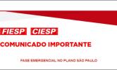 Fase emergencial no plano SP